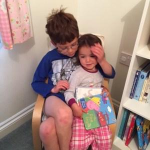 Issac and Kara reading