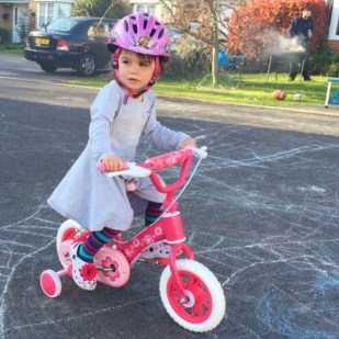 Kara riding bike
