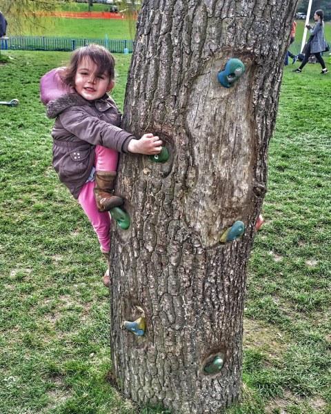 Kara climbing
