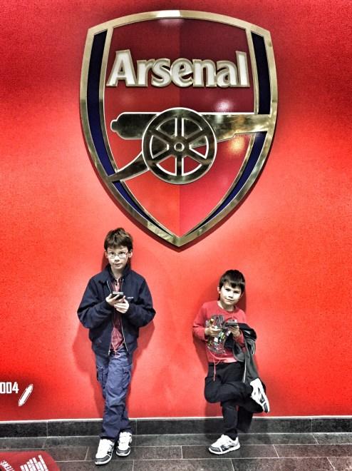 Isaac Toby Arsenal crest players entrance Emirates Stadium
