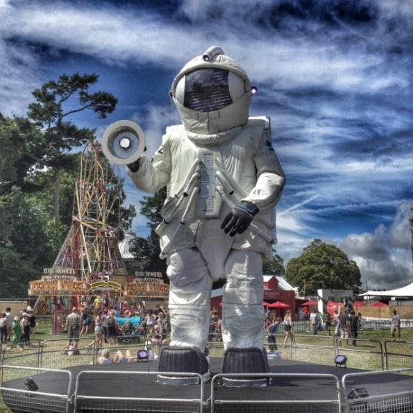 Camp Bestival astronaut