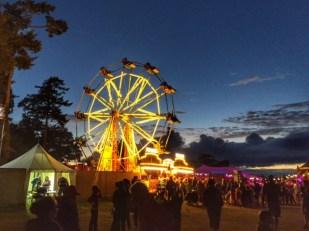 Camp Bestival ferris wheel by night
