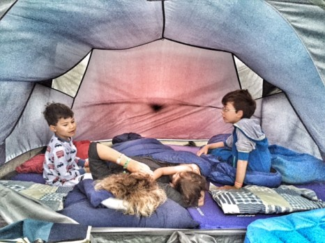Camp Bestival inside tent