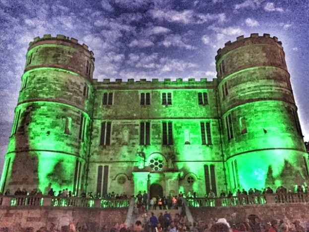 Camp Bestival Lulworth Castle by night