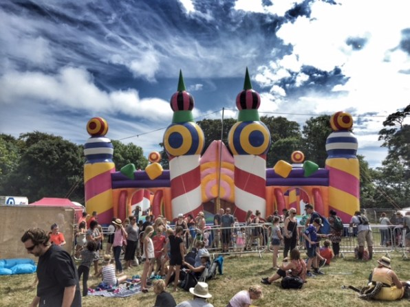 Camp Bestival world's biggest bouncy castle