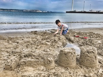 Weymouth beach Toby sandcastles