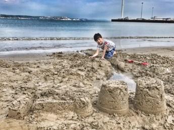 Weymouth beach Toby sandcastles
