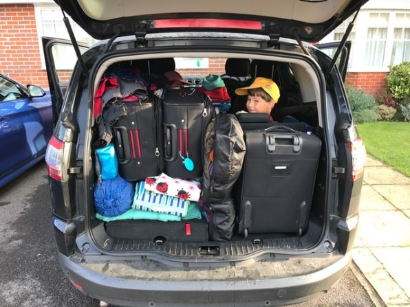 Summer holiday 2017 Home packed car