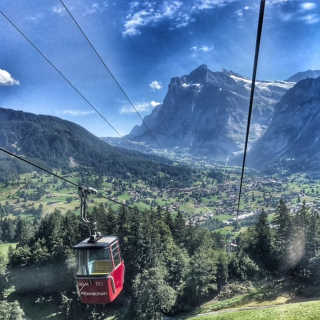 Summer holiday 2017 Mannlichen cable car