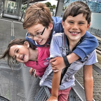 Summer holiday 2017 Stuttgart kids smiling