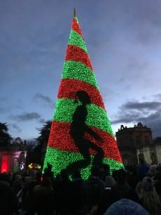Longleat Festival of Light Christmas tree