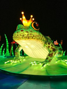 Longleat Festival of Light Frog Prince