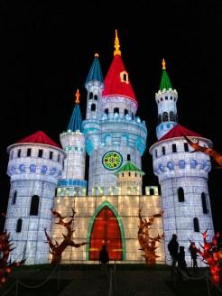 Longleat Festival of Light Sleeping Beauty castle
