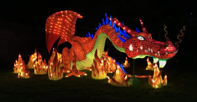 Longleat Festival of Light dragon