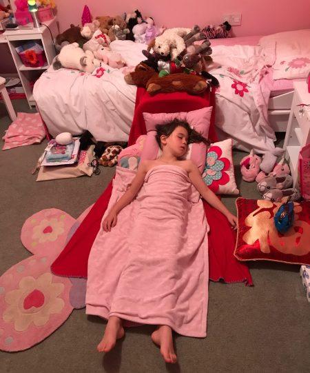 The night before Kara's birthday