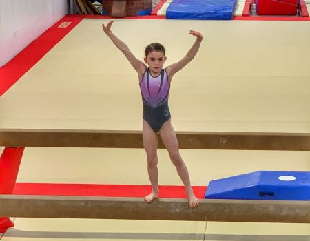 Kara gym competition beam