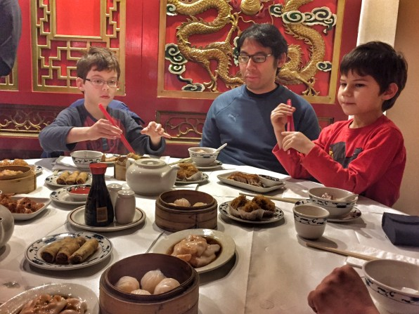Chinese New Year dim sum lunch Isaac Uncle Peter Toby