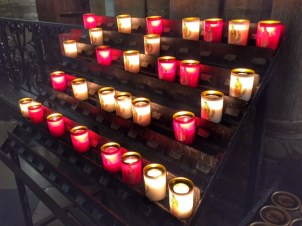 Paris votive candles Notre Dame