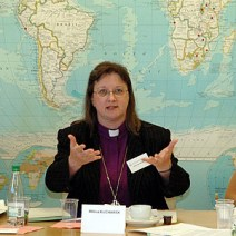 Bishop Kucharek, addressing an LWF gathering in Geneva, Switzerland