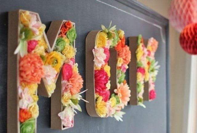 رسائل مع الزهور الحية