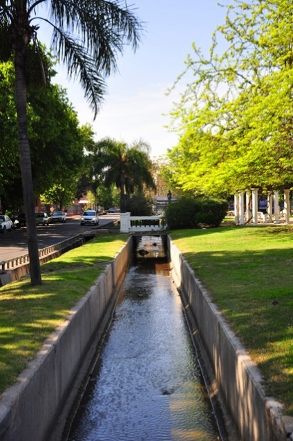 Water canals in Mendoza