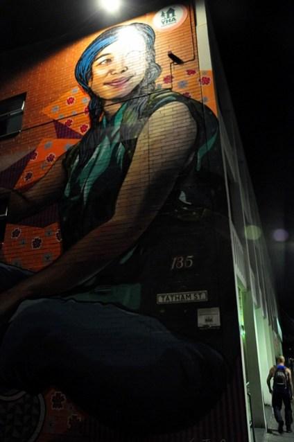 Art on the YHA building