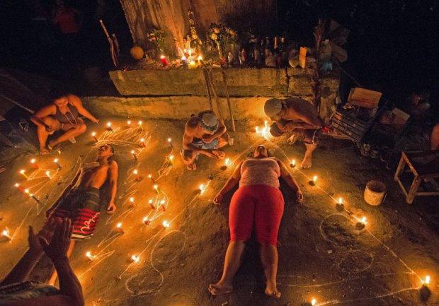 Ритуал адептов сантерии