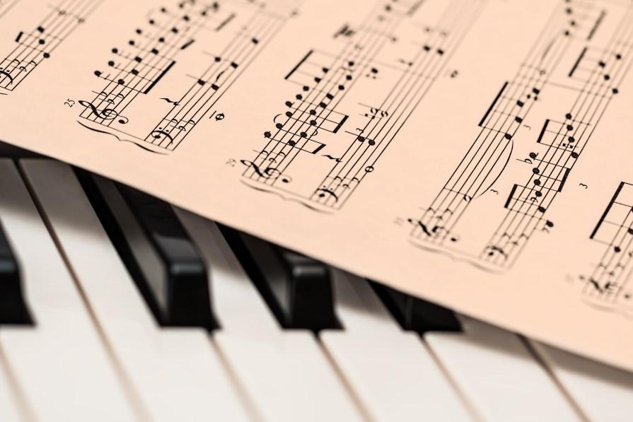 piano musique music papier paper