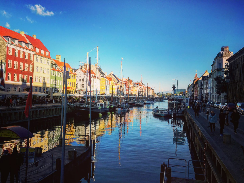 Nyhavn Copenhagen Port Harbor Copenhague Bateaux Boats