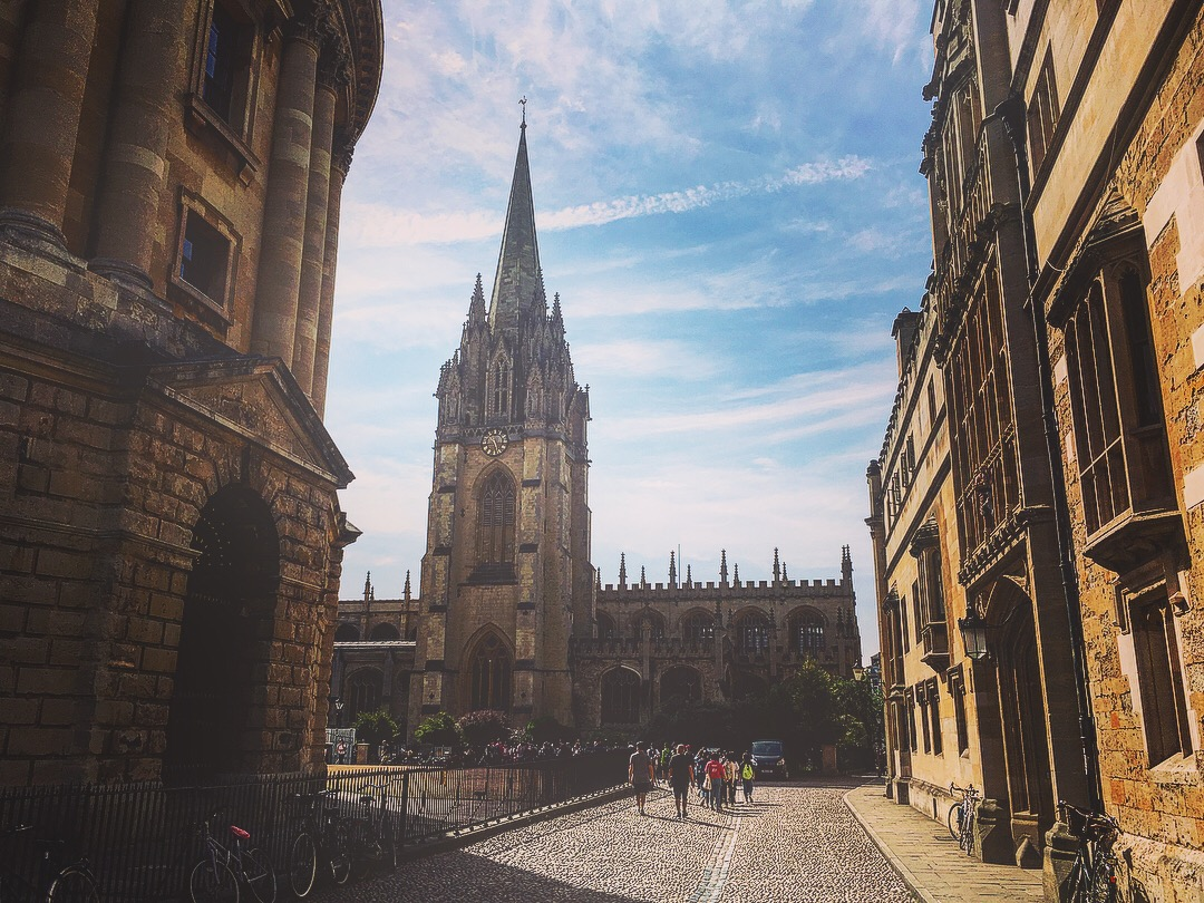 Oxford ville Slow World église vieilles rues