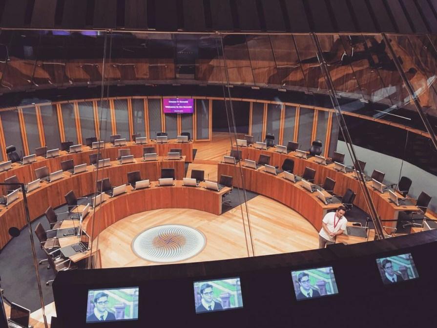 Cardiff Bay Assemblee Nationale Pays de Galles Sièges