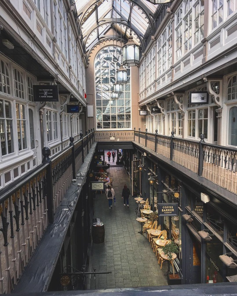 Cardiff Victorian Arcades Pays de Galles Balcon