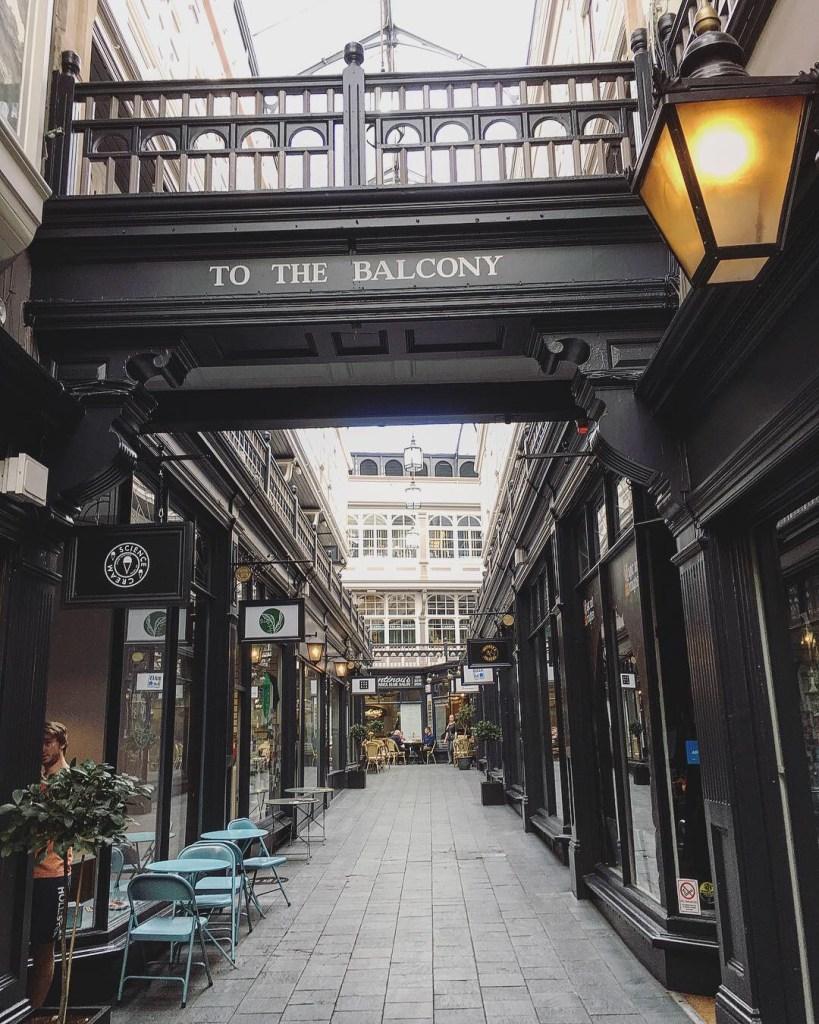 Cardiff Victorian Arcades Pays de Galles Balcony