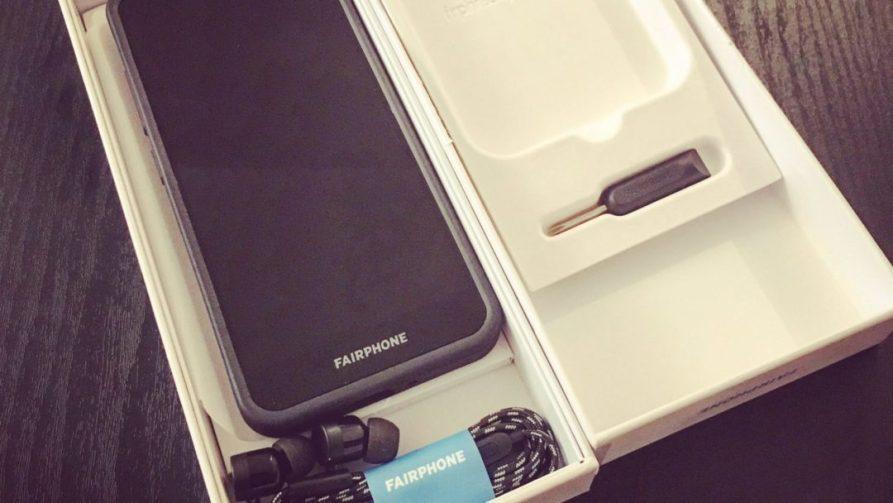 Fairphone 3 contenu coffret boite