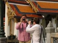 Playing with the cameras. :) Palatul Regal. Bangkok. Tailanda. Grand Palace, Bangkok, Thailand. Photo: ©Slowaholic
