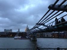 St Paul's Cathedral & Millennium Bridge. Jan. 2014 Photo: ©SLOWAHOLIC