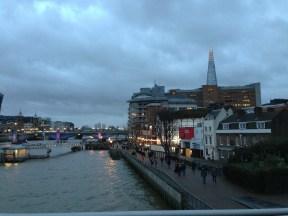London. Evening falling. Jan. 2014 Photo: ©SLOWAHOLIC