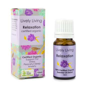 Lively Living Organic Relaxation Oil Blend at Slow Beauty Eco Salon in Canberra