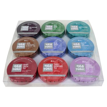 Tea Tonic Loose Leaf Travel Tins - Set of 9 at Slow Beauty Eco Salon in Canberra