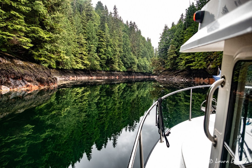 Entering Baker Inlet through Watts Narrows