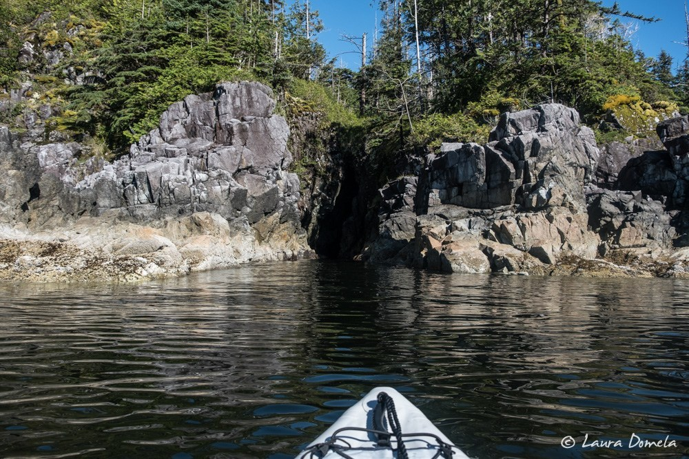 Kayaking around Columbia Cove
