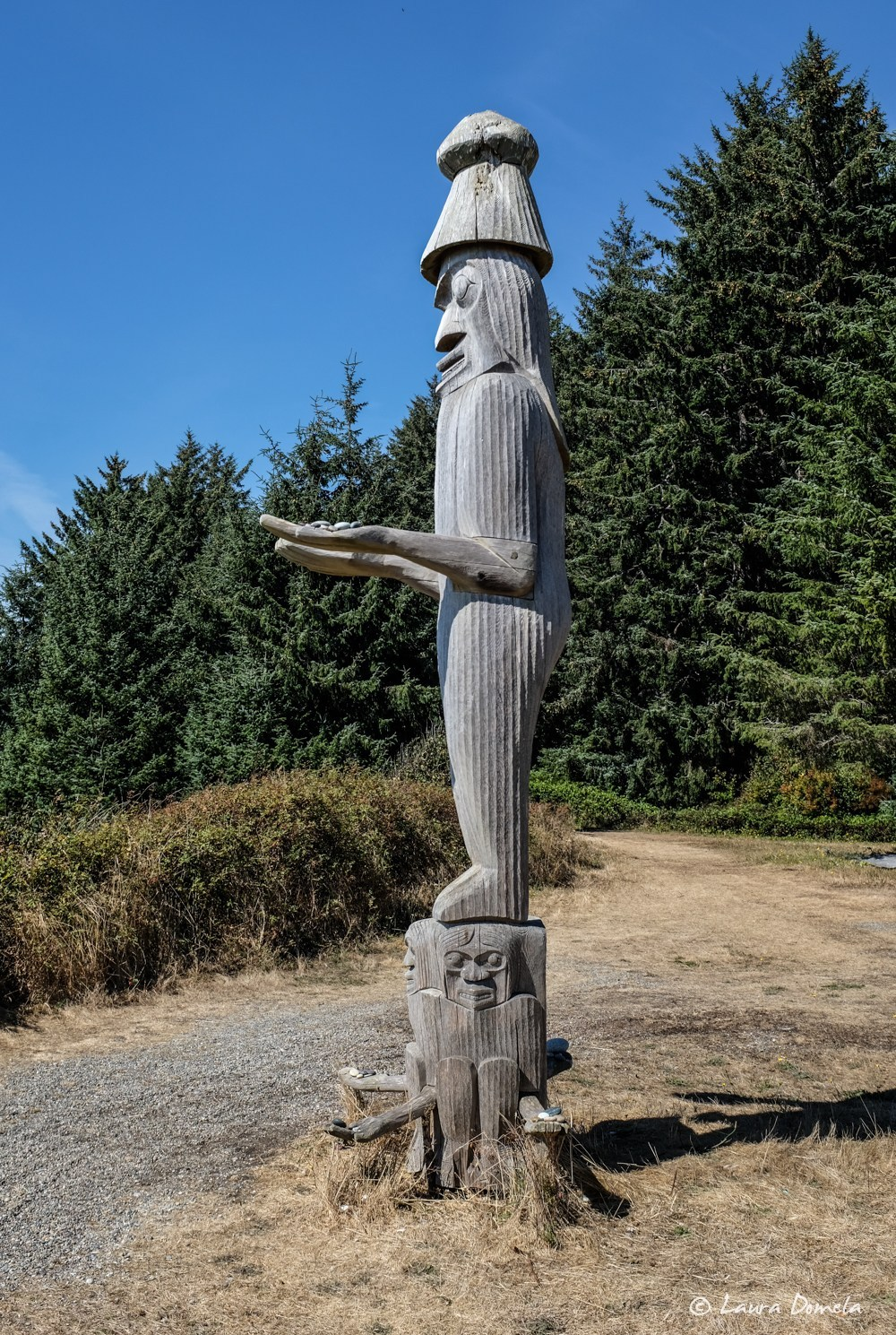 Welcoming Totem, carved by Sanford Williams