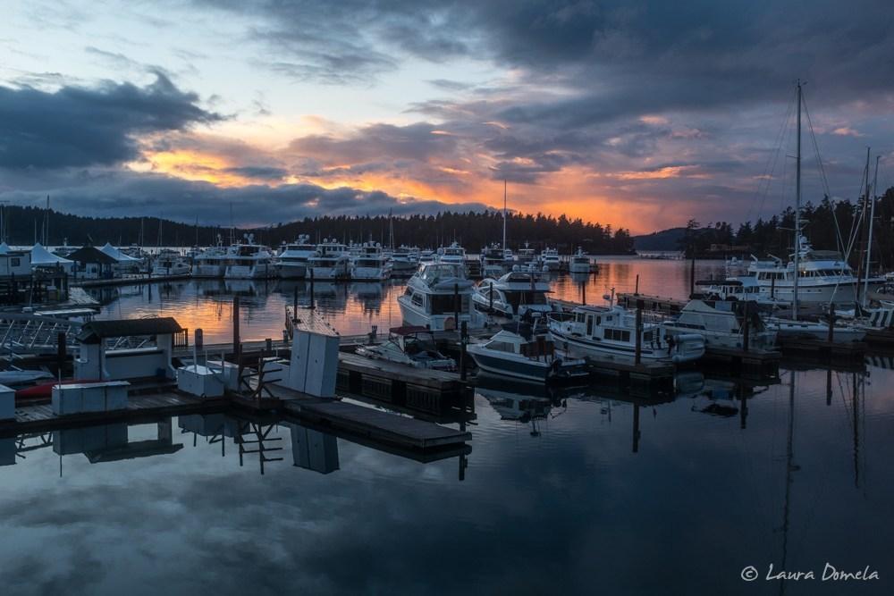 Roche Harbor Resort Marina at sunset
