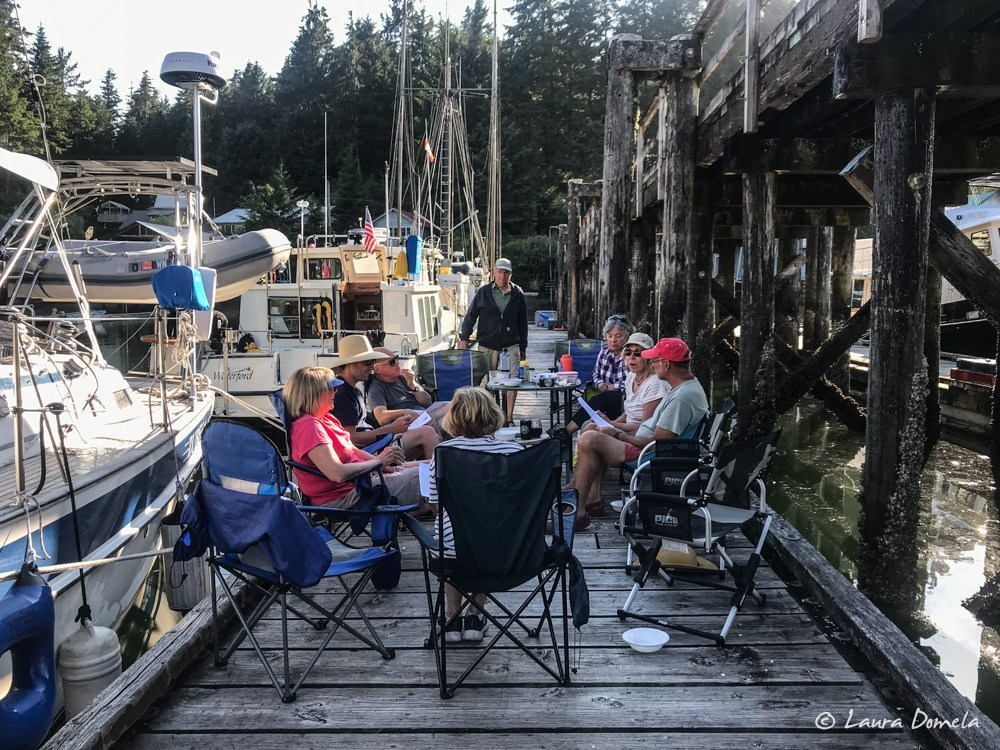 Happy hours on the dock at Walters Cove