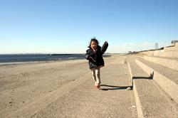 空、稲毛の浜にて。