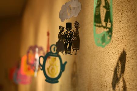 アンデルセン公園・子ども美術館内に展示されていた切り絵
