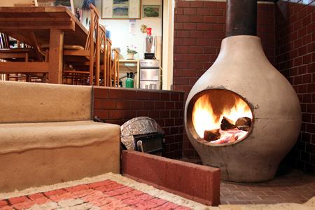 まんまる暖炉