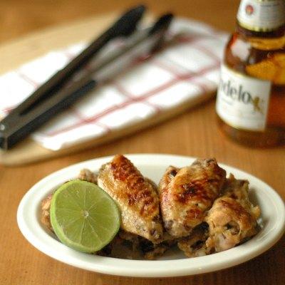 Slow Cooker Beer Glazed Honey Lime Chicken Wings