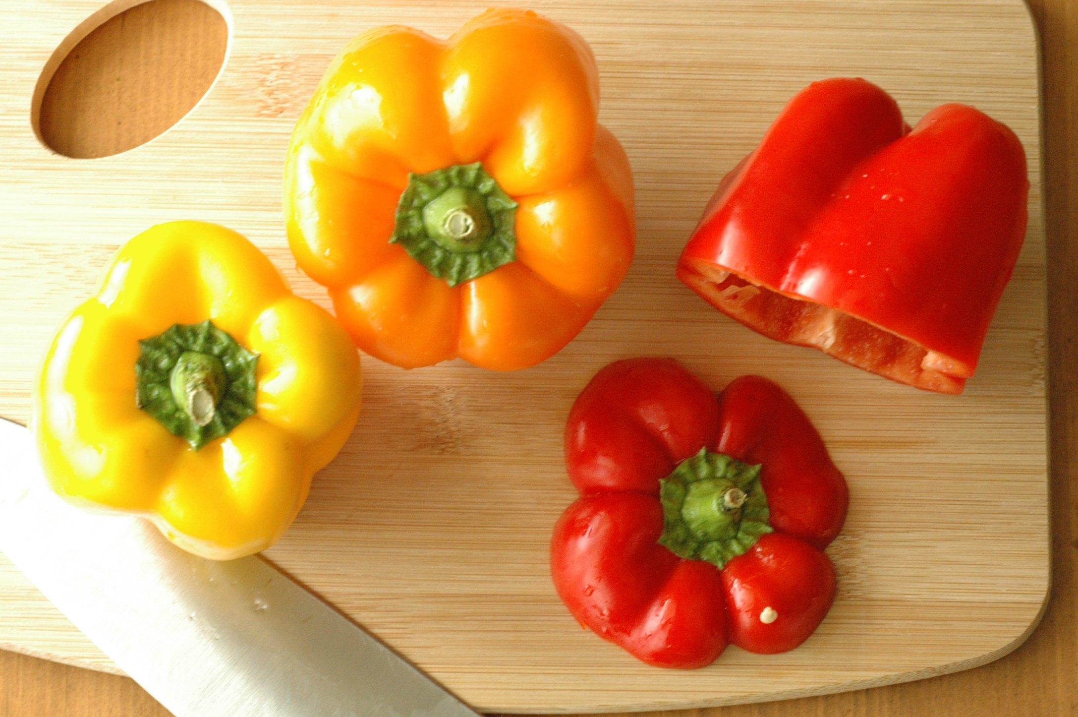 Slow Cooker Enchilada Stuffed Peppers