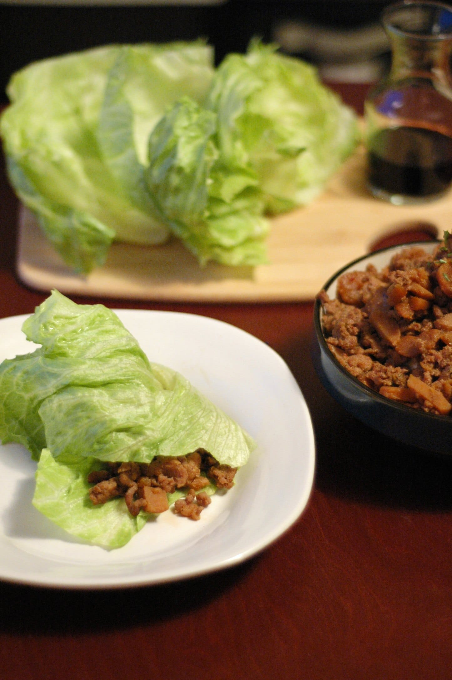 Slow Cooker Spicy Asian Pork Lettuce Wraps